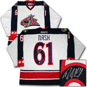 Rick Nash Autographed Columbus Blue Jackets Jersey