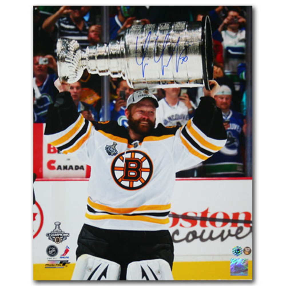 Tim Thomas Autographed Boston Bruins 16X20 Photo