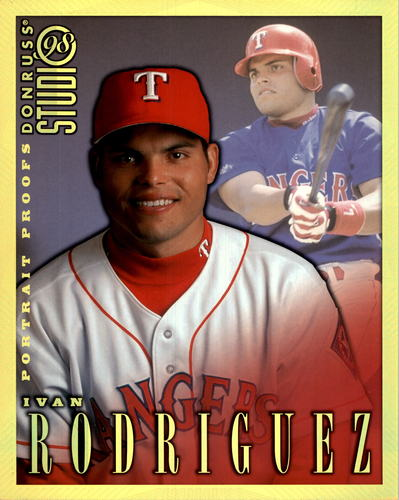 Photo of 1998 Studio Portraits 8 x 10 Gold Proofs #7 Ivan Rodriguez