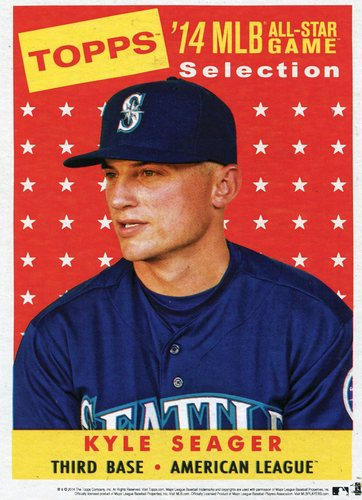 Photo of 2014 Topps 5x7 All-Star Selection Kyle Seager -- Part of exclusive Minneapolis FanFest set