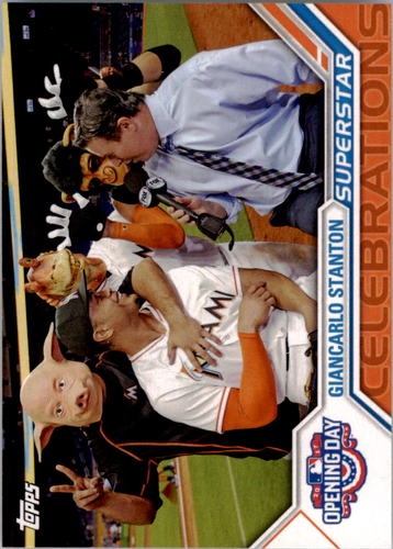 Photo of 2017 Topps Opening Day Superstar Celebrations #SC21 Giancarlo Stanton