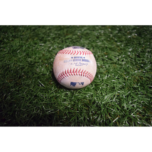 Photo of Game-Used Baseball: Albert Pujols Singles off Alex Cobb