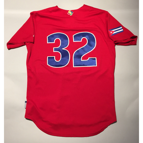 Photo of 2017 WBC: Cuba Game-Used Batting Practice Jersey, #32