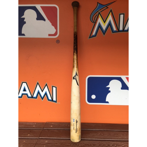 Photo of Justin Bour Game-Used Cracked Bat