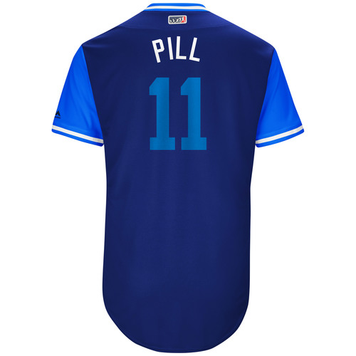 "Photo of Kevin ""Pill"" Pillar Toronto Blue Jays Game-Used Players Weekend Jersey"