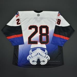 #28 No Name On Back - 2016 U.S. National Under-18 Development Team - Star Wars Night Game-Ready Jersey
