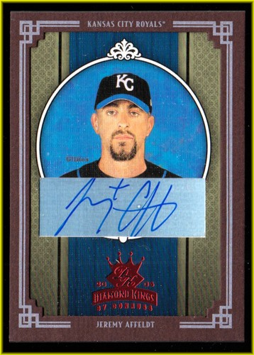 Photo of 2005 Diamond Kings Signature Framed Red #112 Jeremy Affeldt/100