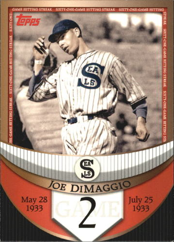 Photo of 2007 Topps DiMaggio Streak Before the Streak #JDSF2 Joe DiMaggio
