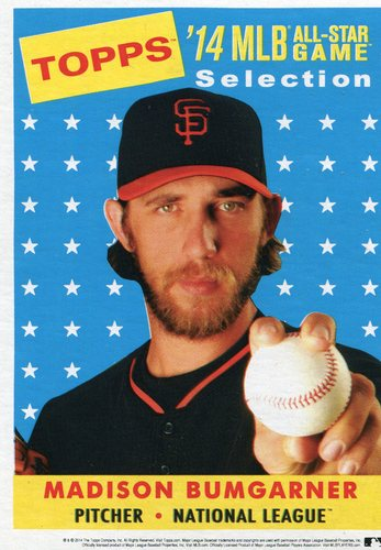 Photo of 2014 Topps 5x7 All-Star Selection Madison Bumgarner -- Part of exclusive Minneapolis FanFest set