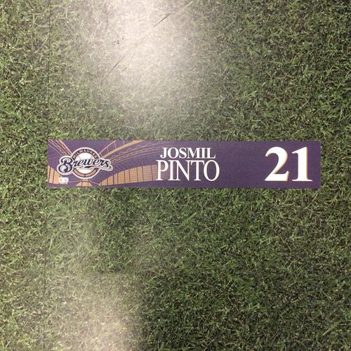 Photo of Josmil Pinto 2016 Locker Nameplate