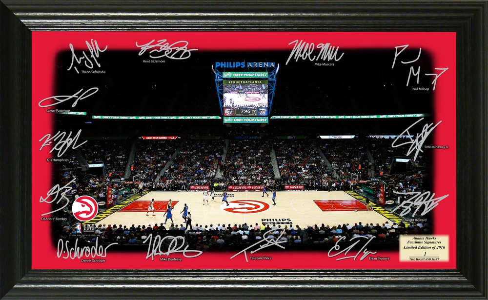 Serial #1! Atlanta Hawks Signature Court