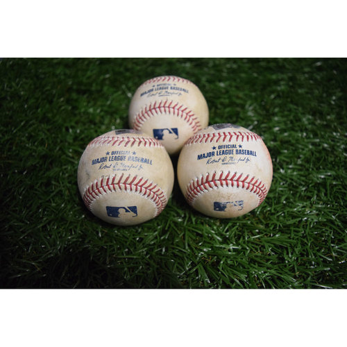 Photo of Game-Used Baseballs: Alex Cobb, Jake Odorizzi and Erasmo Ramirez
