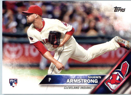 Photo of 2016 Topps #603 Shawn Armstrong Rookie Card -- Indians post-season