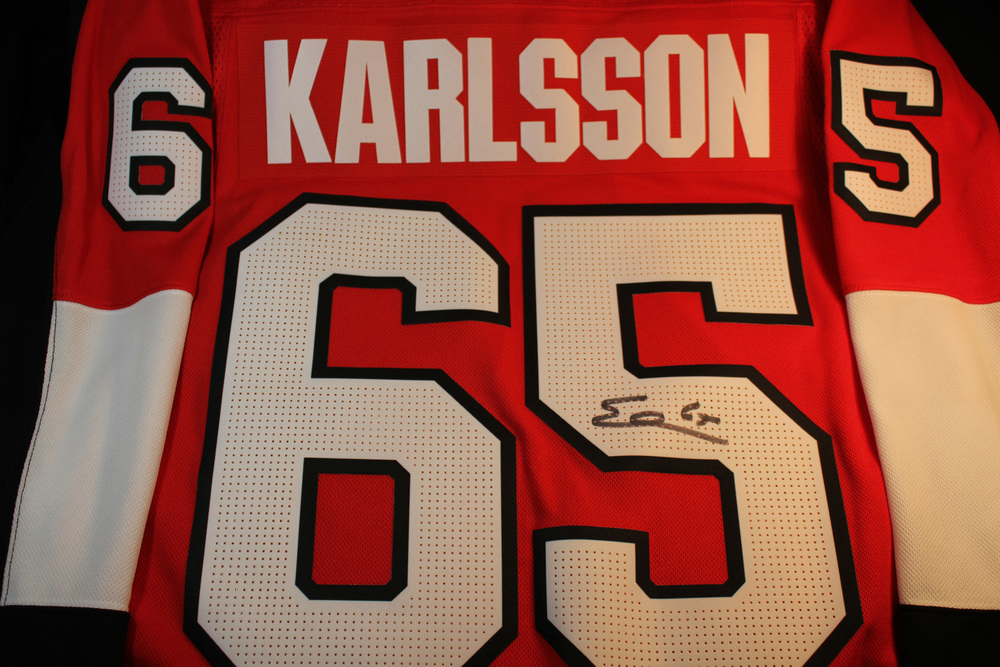 #65 Erik Karlsson Autographed Jersey