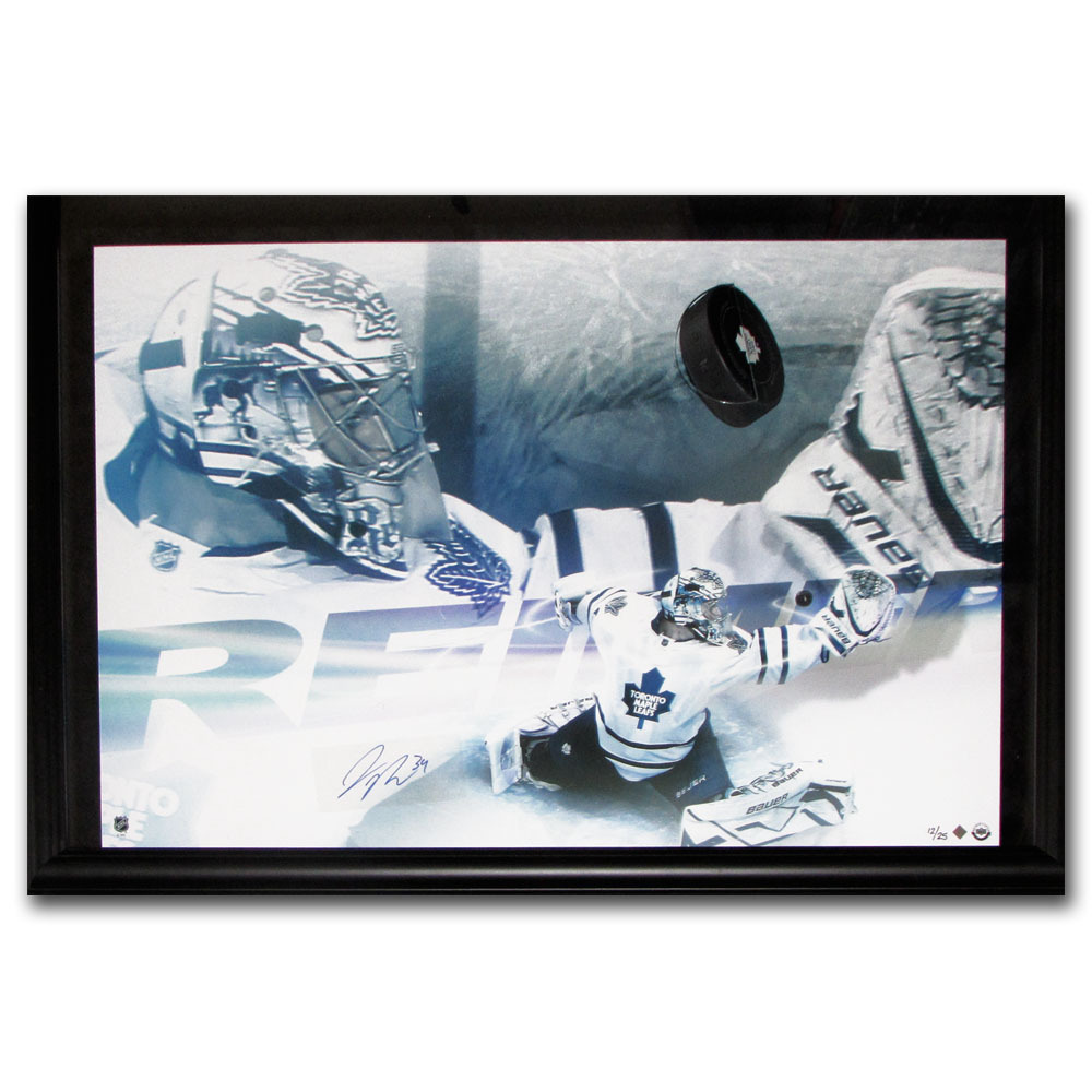 James Reimer Autographed Toronto Maple Leafs Framed Limited-Edition Display - #12/25