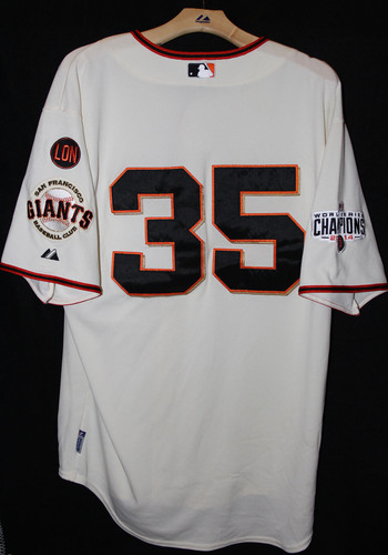Photo of San Francisco Giants Brandon Crawford Game-Used Home Jersey - October 3rd, 2015 vs. the Colorado Rockies
