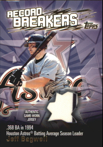 Photo of 2003 Topps Record Breakers Relics #JB Jeff Bagwell Uni B1