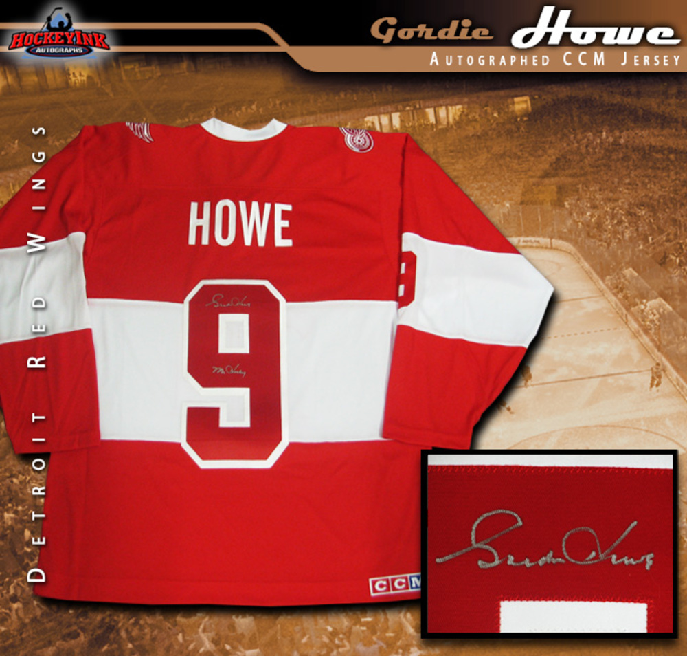 GORDIE HOWE Signed Detroit Red Wings 2014 NHL Winter Classic Alumni Game Jersey