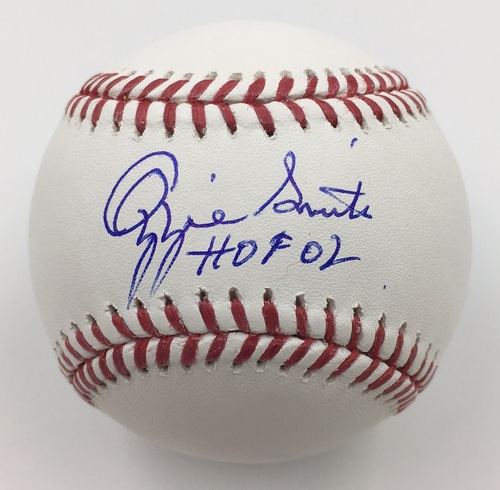 "Photo of Ozzie Smith ""HOF 02"" Autographed Baseball"