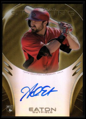 Photo of 2013 Bowman Sterling Rookie Autographs Gold Refractors #AE Adam Eaton