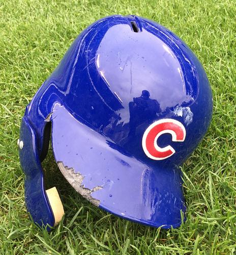 Photo of Jason Heyward Game-Used Batting Helmet -- Size 7 5/8 -- Cubs at Pirates -- 7/9/16