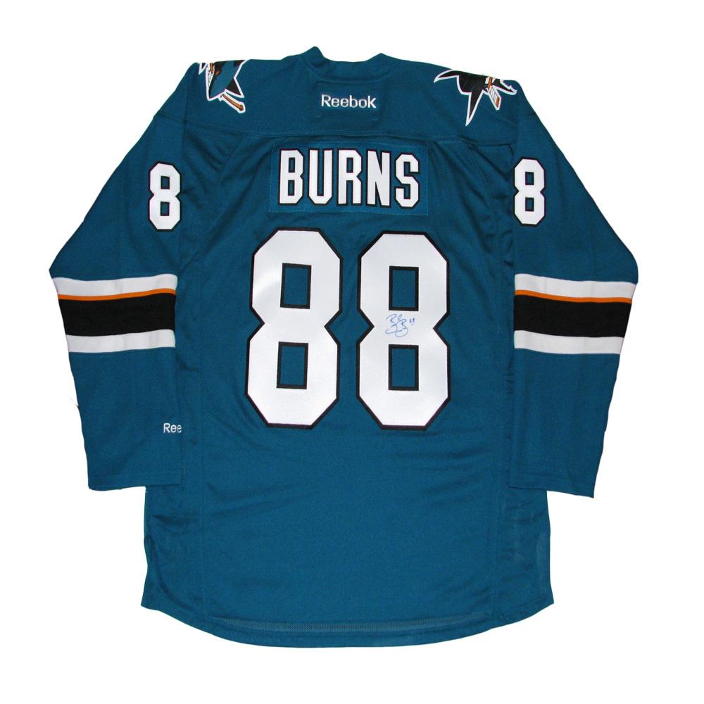 BRENT BURNS Signed San Jose Sharks Teal Reebok Jersey
