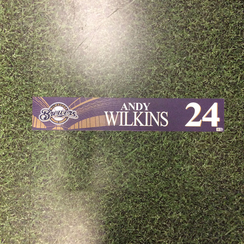 Photo of Andy Wilkins 2016 Locker Nameplate