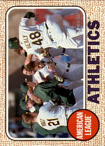 Photo of 2017 Topps Heritage #149 Oakland Athletics TC