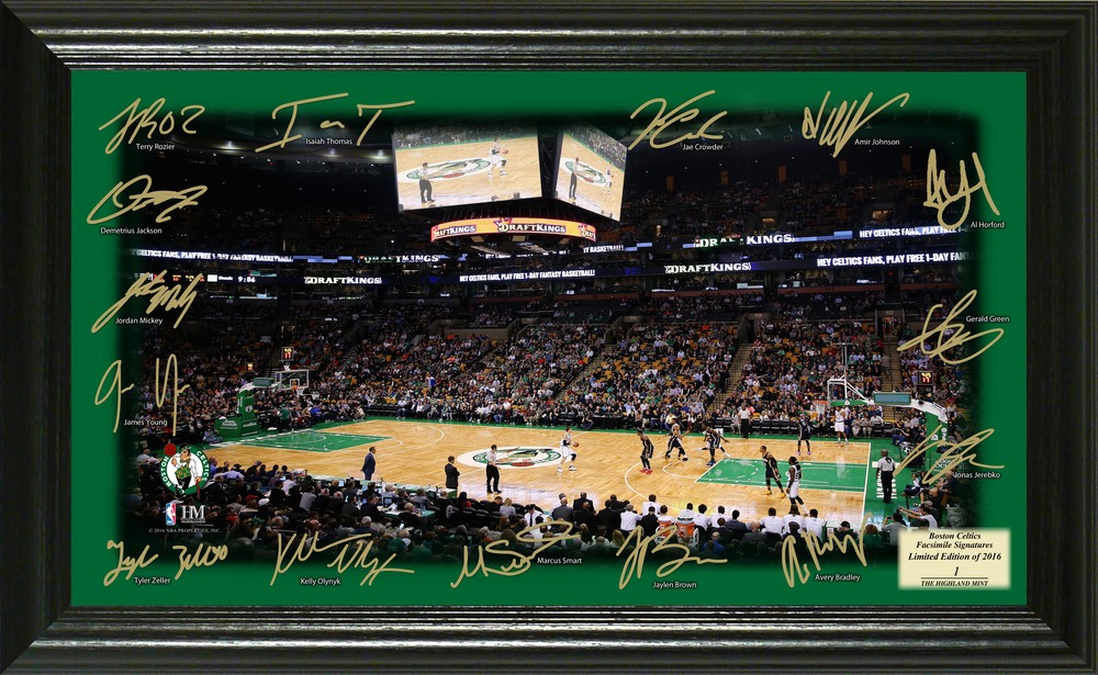 Serial #1! Boston Celtics Signature Court