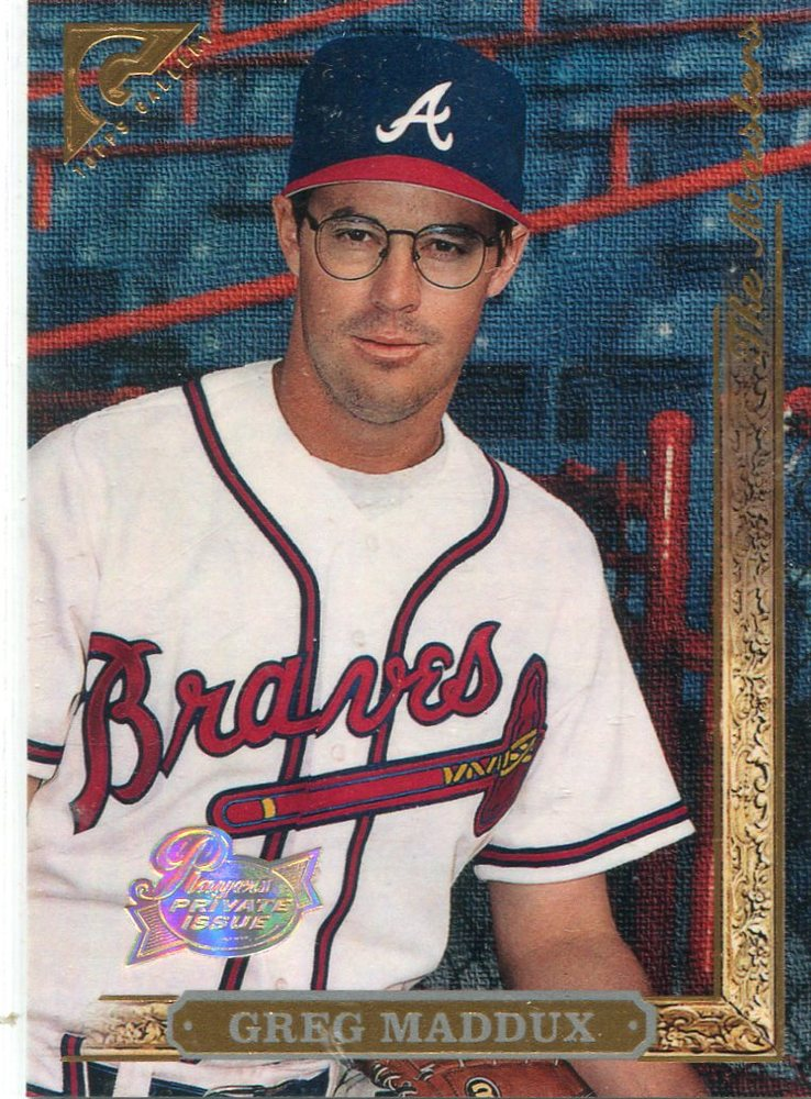 1996 Topps Gallery Players Private Issue #145 Greg Maddux
