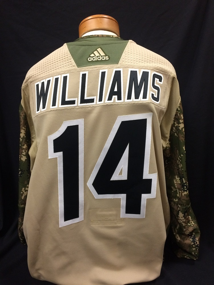 Justin Williams #14 Autographed Military Appreciation Jersey