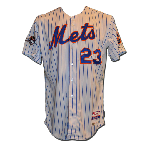 Photo of Michael Cuddyer #23 - MLB Authenticated Team Issued 2015 Postseason Jersey - 2015 Postseason Patch on Right Sleeve