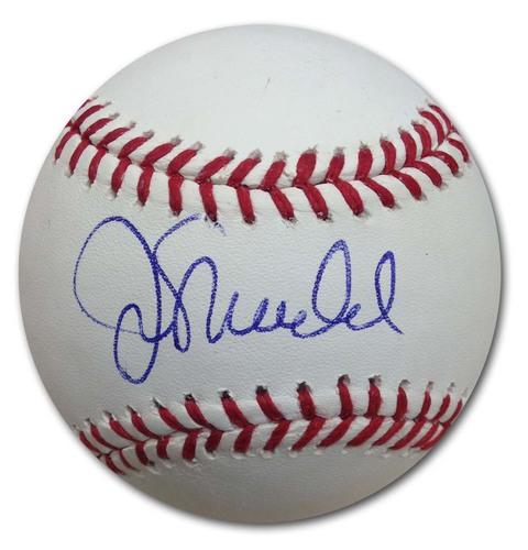 Photo of Joe Maddon Autographed Baseball