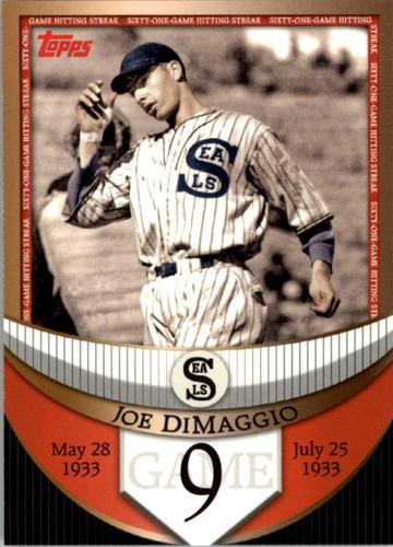 Photo of 2007 Topps DiMaggio Streak Before the Streak #JDSF9 Joe DiMaggio