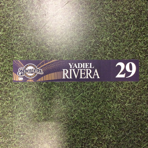 Photo of Yadiel Rivera 2016 Locker Nameplate