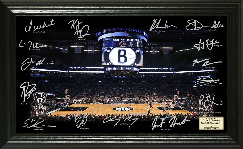 Serial #1! Brooklyn Nets Signature Court