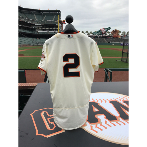 Photo of San Francisco Giants - Home Opening Day Jersey - Game Used - Denard Span #2