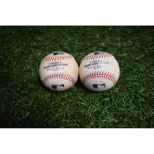Photo of Game-Used Baseballs: Mike Trout, Danny Espinosa, Cameron Maybin and Matt Andriese