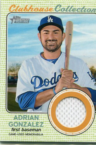 Photo of 2017 Topps Heritage Clubhouse Collection Relics Adrian Gonzalez -- Dodgers post-season