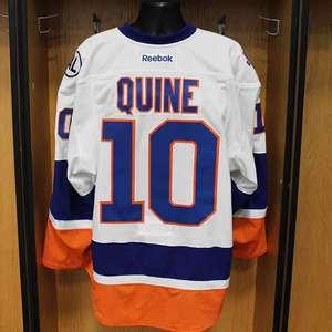 Alan Quine - Game Worn Away Jersey - 2015-16 Season - New York Islanders