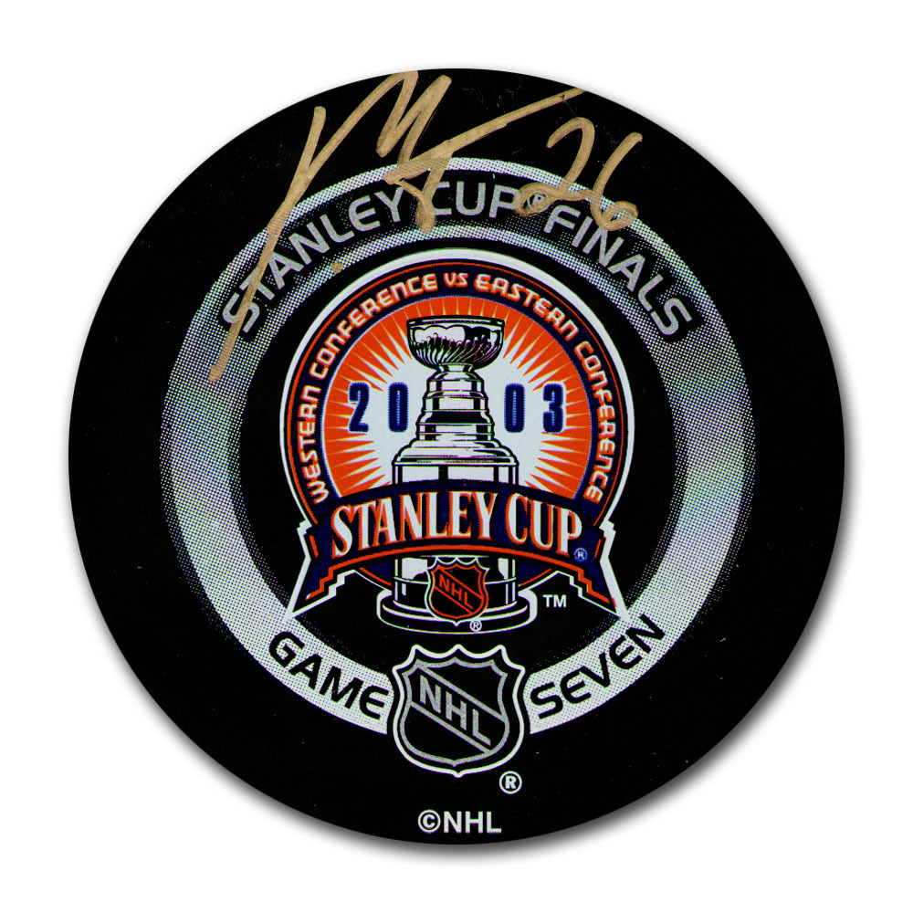 Patrik Elias (New Jersey Devils) Autographed 2003 Stanley Cup Final Official Game Seven Puck
