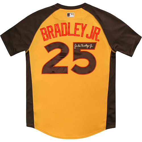 Photo of Jackie Bradley Jr. 2016 Major League Baseball Workout Day/Home Run Derby Autographed Jersey