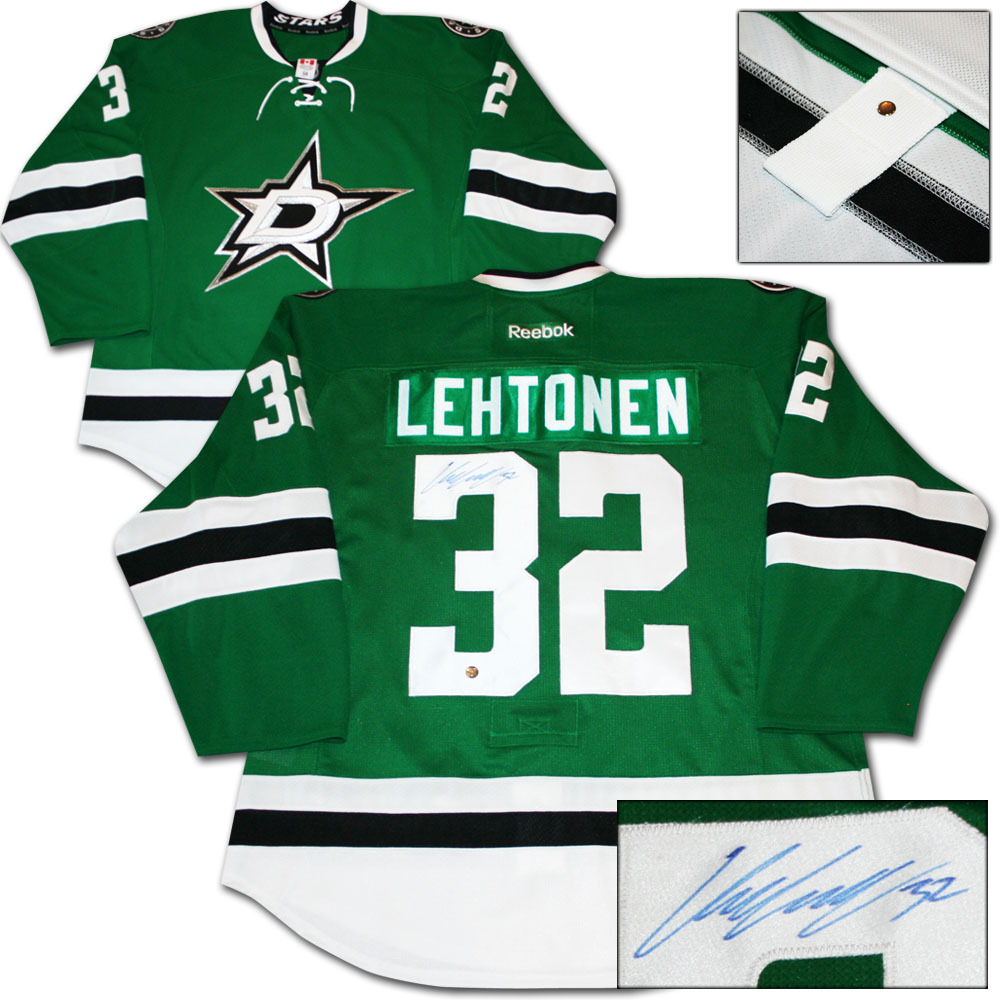 Kari Lehtonen Autographed Dallas Stars Authentic Pro Jersey