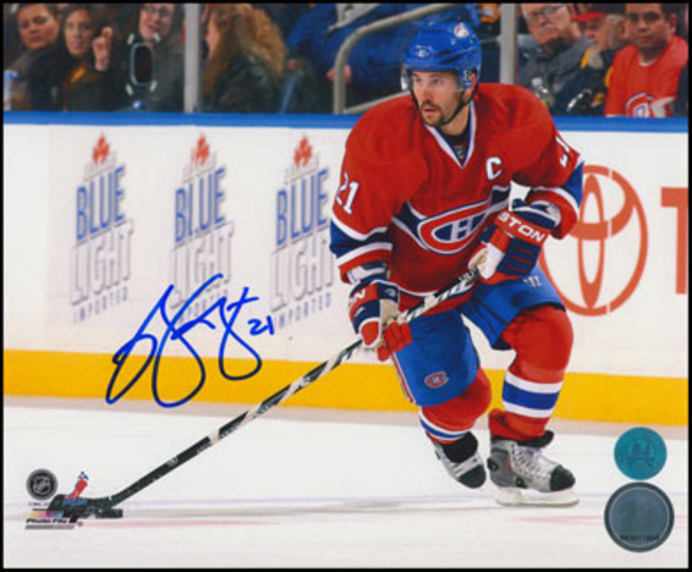 BRIAN GIONTA Montreal Canadiens SIGNED 8x10 Captain Photo