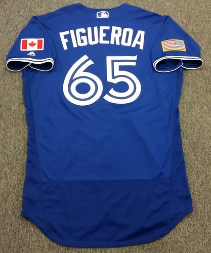 Photo of Authenticated Game Used 2016 Independence Day Jersey - Jesus Figueroa