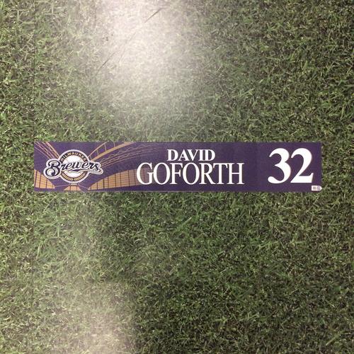 Photo of David Goforth 2016 Locker Nameplate
