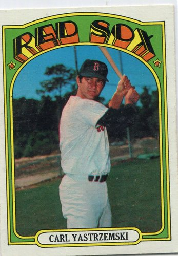 Photo of 1972 Topps #37 Carl Yastrzemski Hall of Famer