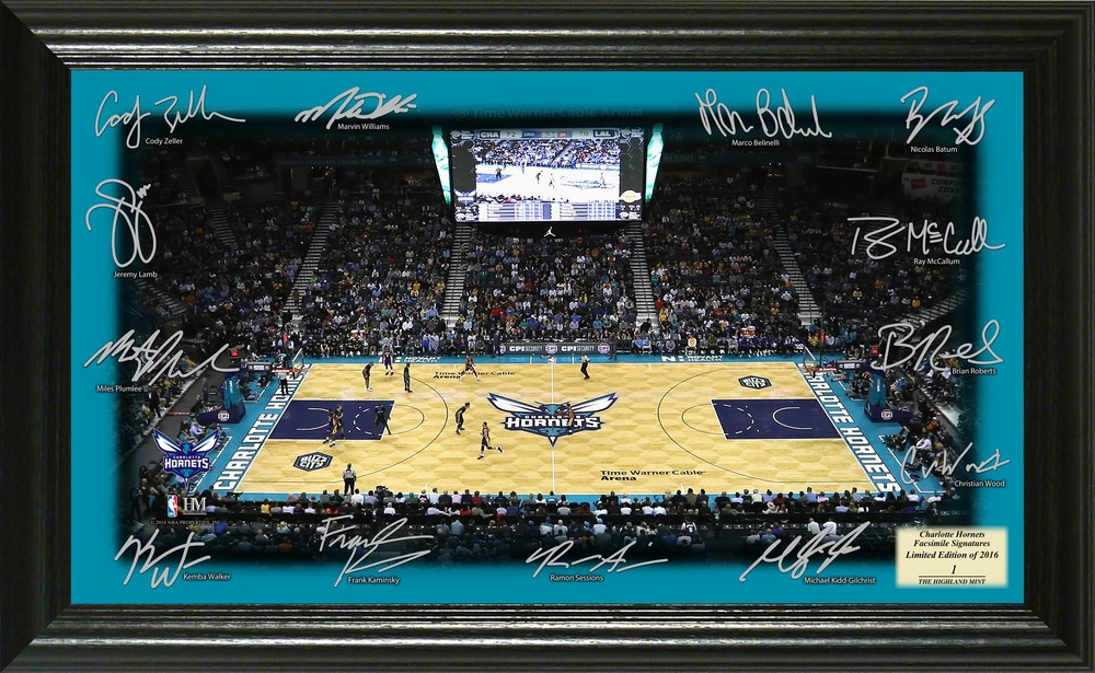 Serial #1! Charlotte Hornets Signature Court