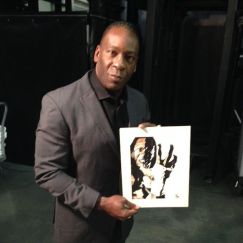 Booker T Signed Painting by Rob Schamberger