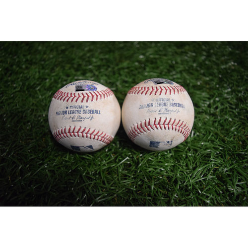 Photo of Game-Used Baseballs: Alex Cobb and Mike Trout